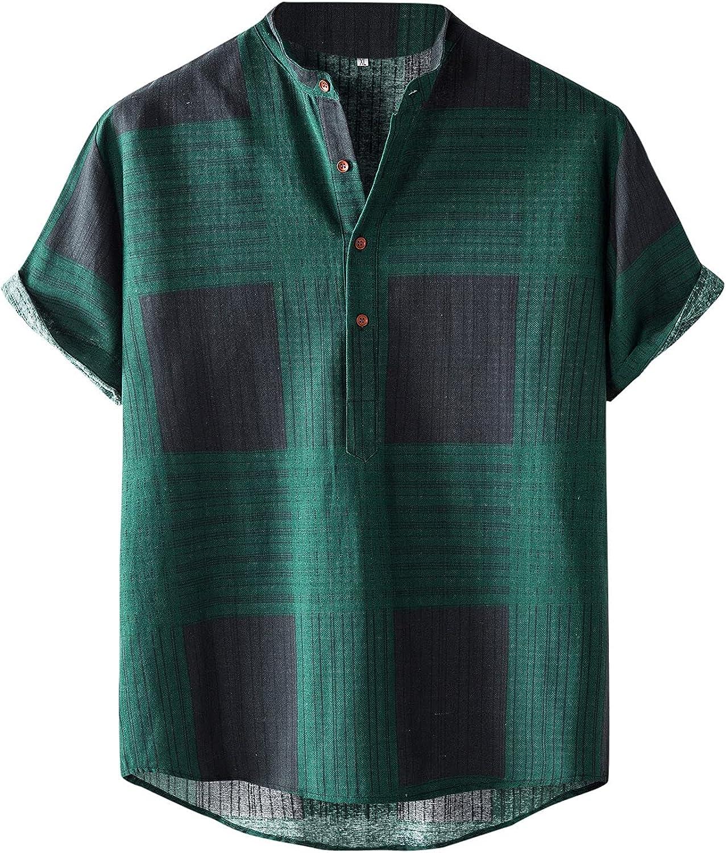 QWENTMTNTY Men Hawaiian T Shirts Short Sleeves Printed Button Down Summer Beach Dress Shirt Casual Hippie Graphic Tees