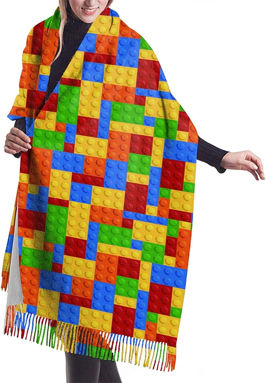 Womens Soft Cashmere Scarf,Puzzle Brick Shawl Scarf,Premium Large Pashmina,Warm Wrap Cape Solid Shawl Elegant Wrap