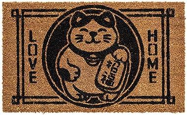 Fashion Carpet Coconut Palm Floor Mats Home Door Anti-Slip Moisture Floor Mats Door Door Outside Door Mats (Color : A, Size :