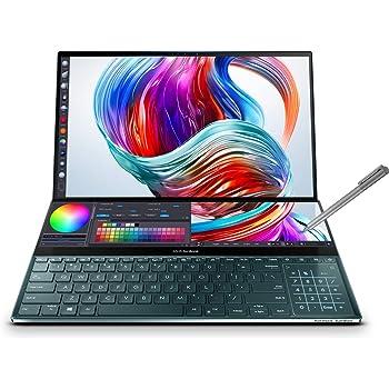 "ASUS ZenBook Pro Duo UX581LV-H2013R - Portátil de 15.6"" UHD con ScreenPad Plus de 14"" (i7-10750H, 32 GB RAM, 1TB SSD, RTX2060 6 GB GDDR6, Windows 10 Pro) Azul Celeste"