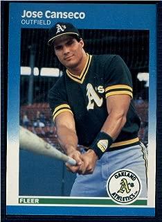 Baseball MLB 1987 Fleer #389 Jose Canseco NM Athletics