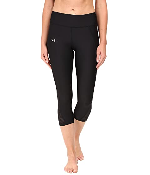 Cheap Price Wholesale Under Armour Fly By Run Capris Black/Black/Reflective Comfortable Discount Newest AGJ4M
