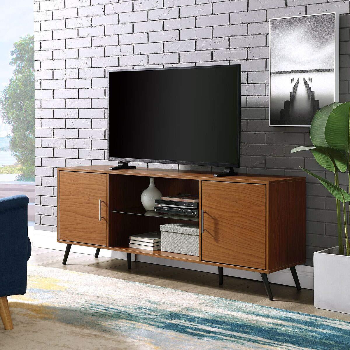 Priya Home Furniture Consola de Soporte de TV de 2 Puertas ...
