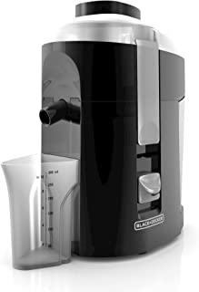 BLACK+DECKER 400-Watt Fruit and Vegetable Juice Extractor, Black, JE2200B (Renewed)