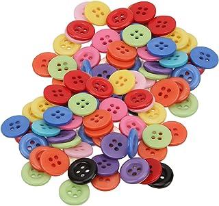 Botões de resina, ampla aplicação Botão colorido resistente a óleo para uso fácil para costura de roupas(12,5 MM (4 olhos))