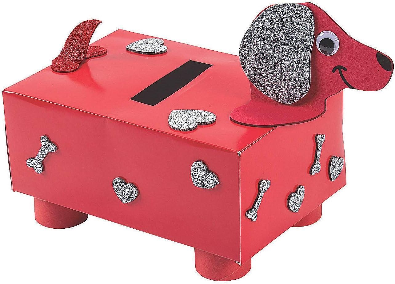 2021 Fun Express Valentine's Day Sales Puppy Craft Kit Card Box Holder