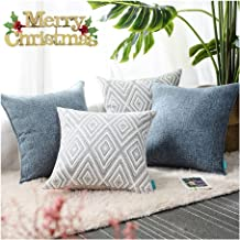 hpuk Plaid Polyester Decorative Pillow Covers Throw Pillows Covers Couch Pillowcase Cushion Cover Couch, 17X17