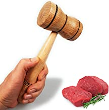 Meat Tenderizer Mallet - Practical Kitchen Tool Natural Wooden Heavy Duty Hammer Mallet Tool & Chicken Pounder (Made in Eu...