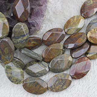 Natural AAA Crazy Lace Agate Beads Loose Gemstone Beads for Jewelry Making Strand 15 Inch (20x30mm, 13pcs)
