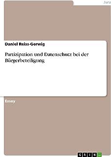 Partizipation und Datenschutz bei der Bürgerbeteiligung (German Edition)
