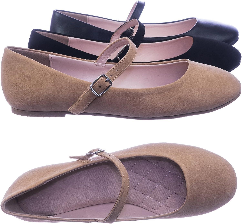 BETANI Women Faux Suede Open Toe Rhinestone Footbed Sandal GC28