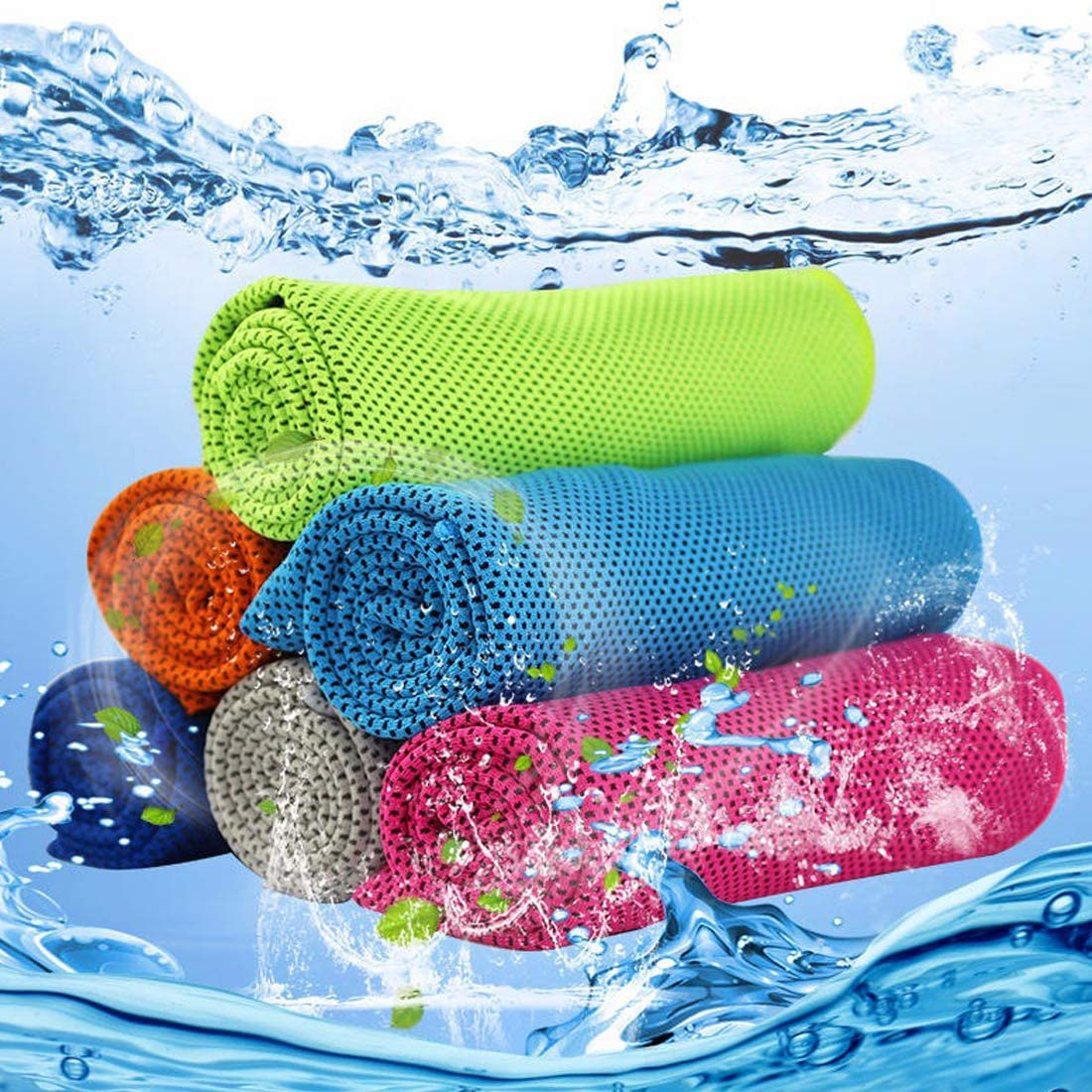 Cooling Towel Ice Towel,Microfiber Towel,Soft Breathable Chilly Towel for Yoga,Sport,Gym,Workout,Camping,Fitness,Running,Workout/&More Activities 40x 12