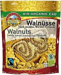 Bio helles Walnussmehl Fairtrade 1,5 kg Walnussproteinpulver, aromatische Walnusskerne aus Usbekistan Walnüsse fein gemahlen gerieben, natürlich nicht entöltes Walnusspulver, glutenfrei 10x150 gr