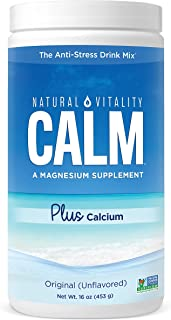 Natural Vitality Calm PLUS Calcium Supplement Powder, Original - 16 ounce