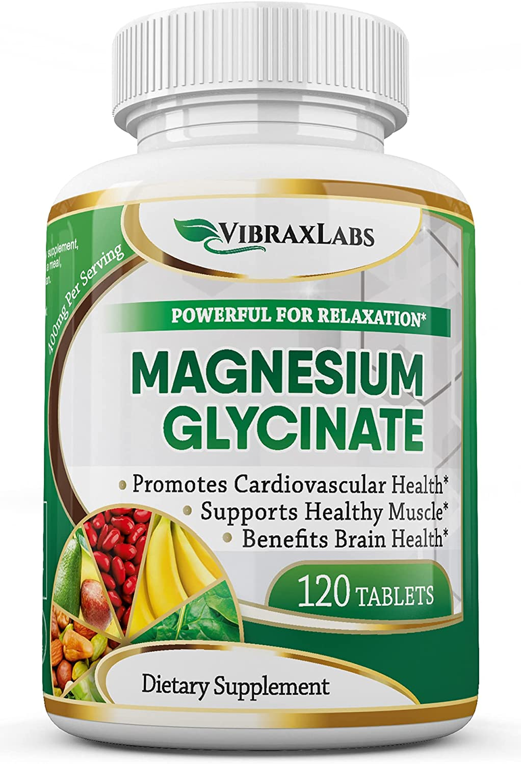 VibraxLabs Luxury Magnesium Glycinate Supplement 400mg Men for Opening large release sale Wome