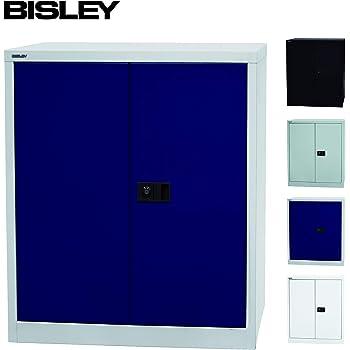 Bisley Aktenschrank Werkzeugschrank Flugelturenschrank Aus Metall Abschliessbar Inkl 3 Einlegeboden Stahlschrank In Licht Grau Oxford Blau Amazon De Kuche Haushalt