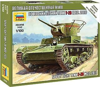 Zvezda Model 6246 Soviet Light Tank T-26 Mod.1933 Scale 1/100