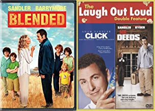 Blend Hers & His Fall in Love Adam Sandler Drew Barrymore DVD Blended + MR. Deeds Comedy Triple Feature Click Movie Collection Set