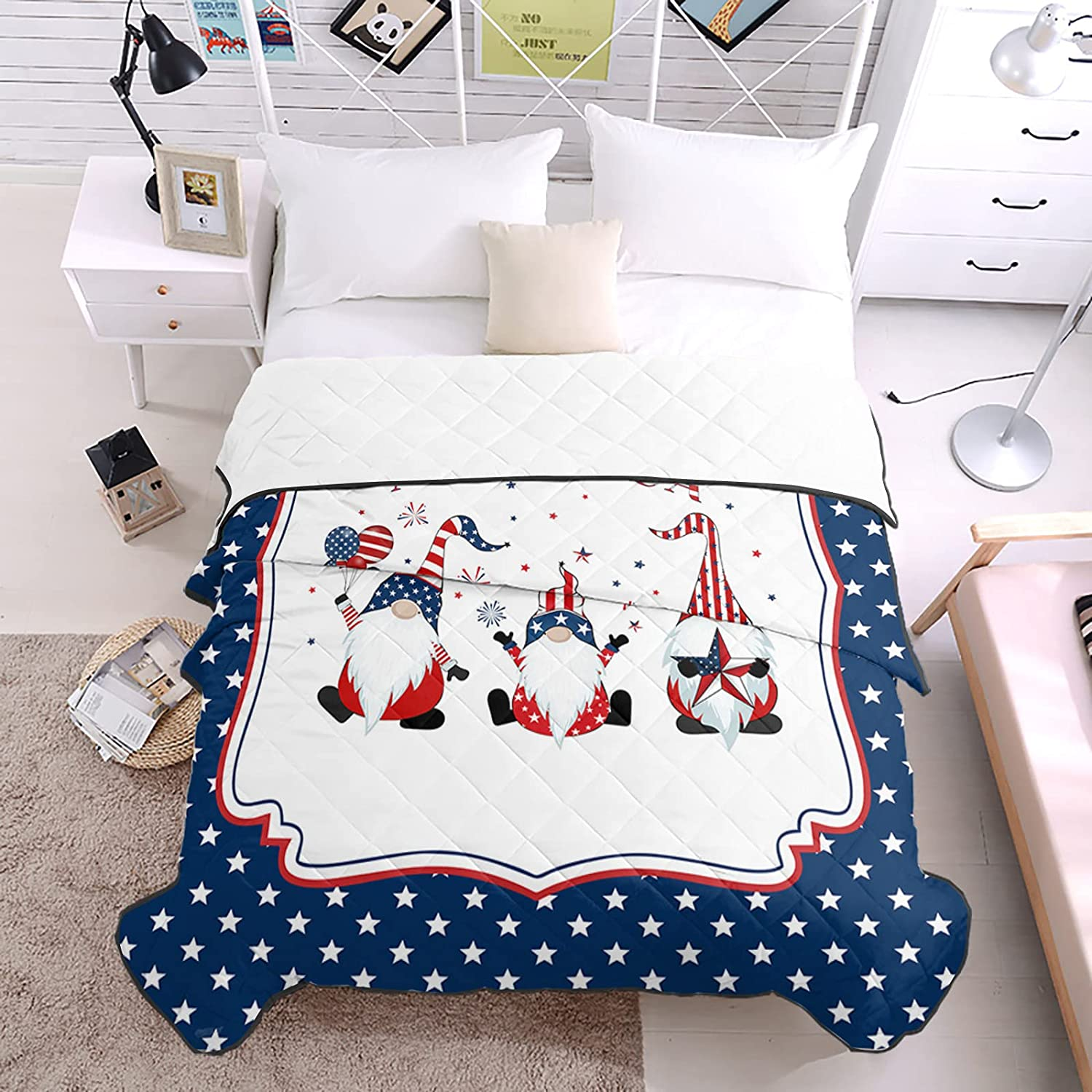 Bedding Duvets Starry White Beard Spring new work one after another Firework Gnomes Balloons National uniform free shipping Hold