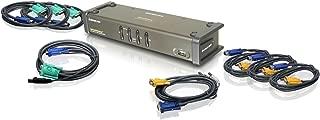 IOGEAR 4-Port DualView USB VGA KVMP Switch with Audio w/Full Set of Cables, (GCS1744 TAA Compliant)
