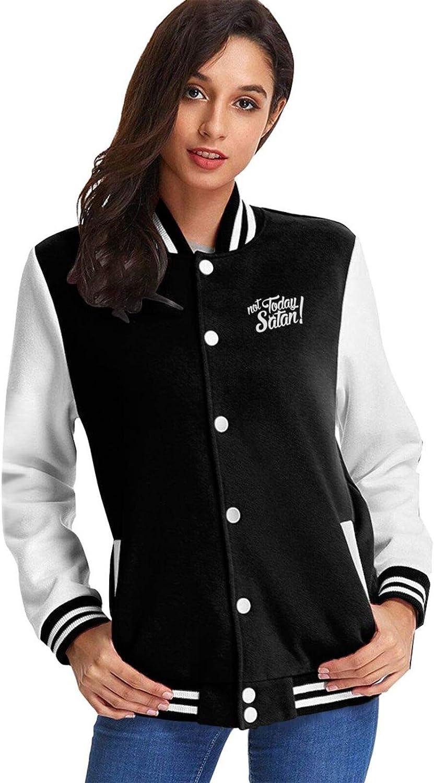 Ranking TOP17 Not Today Satan Woman's Baseball Jacket Uniform 40% OFF Cheap Sale Unisex Co Casual