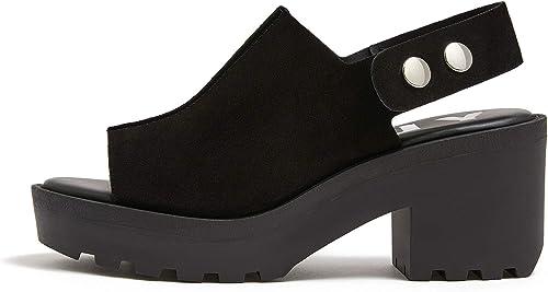 Bimba y Lola Donna nero Split Leather Heel Seal 191BZ1245