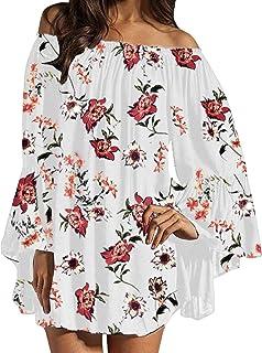 81556b8cf50e1 Zanzea Femme Tunique Sexy Élégant Longue Blouse Épaule Nue Mousseline Robe  de Plage Plier Dress