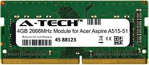 A-Tech 4GB Module for Acer Aspire A515-51 Laptop & Notebook Compatible DDR4 2666Mhz Memory Ram (ATMS267759A25977X1)