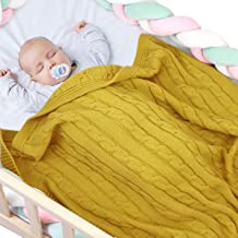 3 unidades Sensio color blanco amarillo amarillo 100/% algod/ón org/ánico, muselina unisex 68 x 68 cm Juego de mantas para beb/é