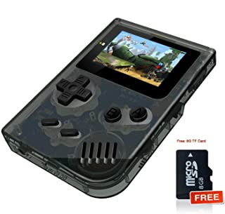 MJKJ Handheld Game Console , Retro Game Console 2 Inch HD Screen 548 Classic GBA Games , Birthday Presents for Children - Transparent Black