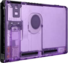 eXtremeRate Clear Atomic Purple Console Back Plate DIY Replacement Housing Shell Case for Nintendo Switch Console with Kickstand – JoyCon Shell NOT Included