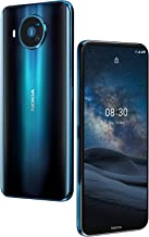 Nokia 8.3 5G Android Unlocked Smartphone with 8/128 GB Memory, Quad Camera, Dual SIM, and 6.81-Inch Screen, Polar Night (T...