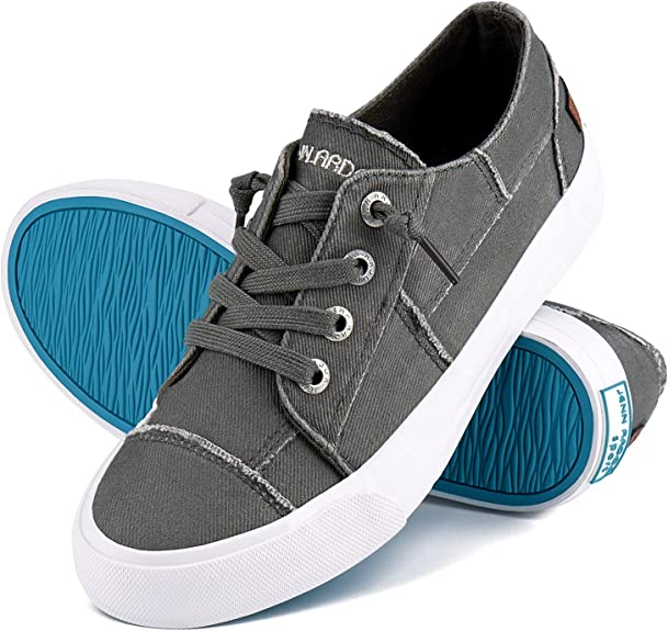 Womens Canvas Sneakers Shoes Slip on Fashion Shoes Play Sneakers Casual Walking Tennis Shoes