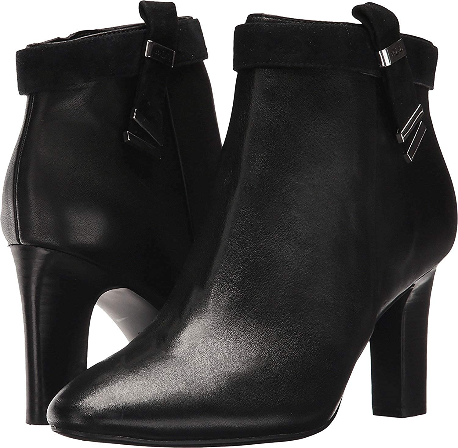 Ralph Lauren Womens Brin Almond Toe Ankle Fashion Boots, Black, Size 6.0