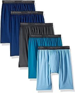 Fruit of the Loom Mens Micro-Stretch Long Leg Boxer Briefs Underwear - Multi
