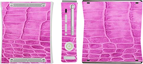Pink Crocodile Leather Print Pattern Background Vinyl Decal Sticker Skin by Moonlight4225 for Xbox 360