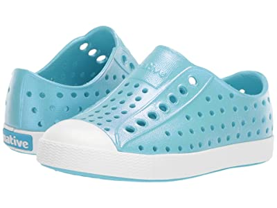 Native Kids Shoes Jefferson Iridescent (Toddler/Little Kid) (Hamachi Blue/Shell White/Galaxy Iridescent) Girls Shoes
