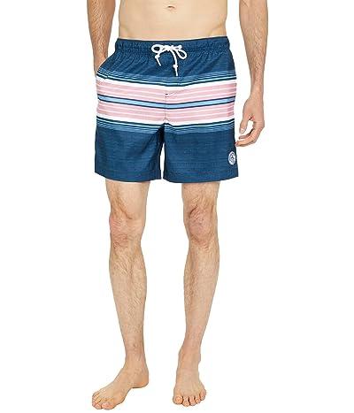 Original Penguin Engineered Stripe Swim Shorts