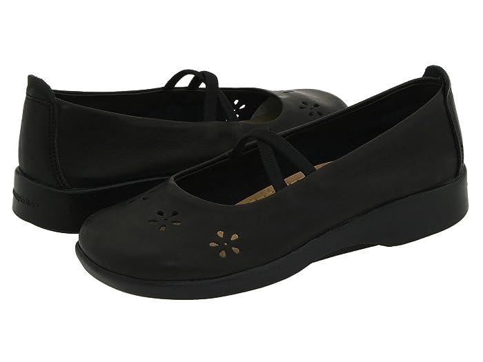 Arcopedico  Flower (Black Leather) Womens Maryjane Shoes