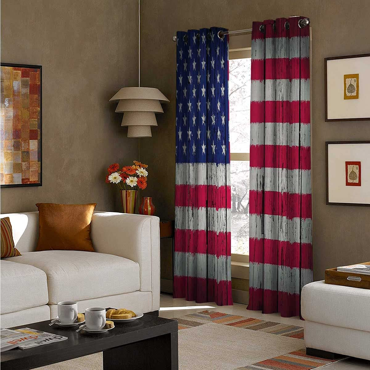 Grommet Curtain Phoenix Mall Panel latest 108 Inch Long Roo Day Fourth July Freedom