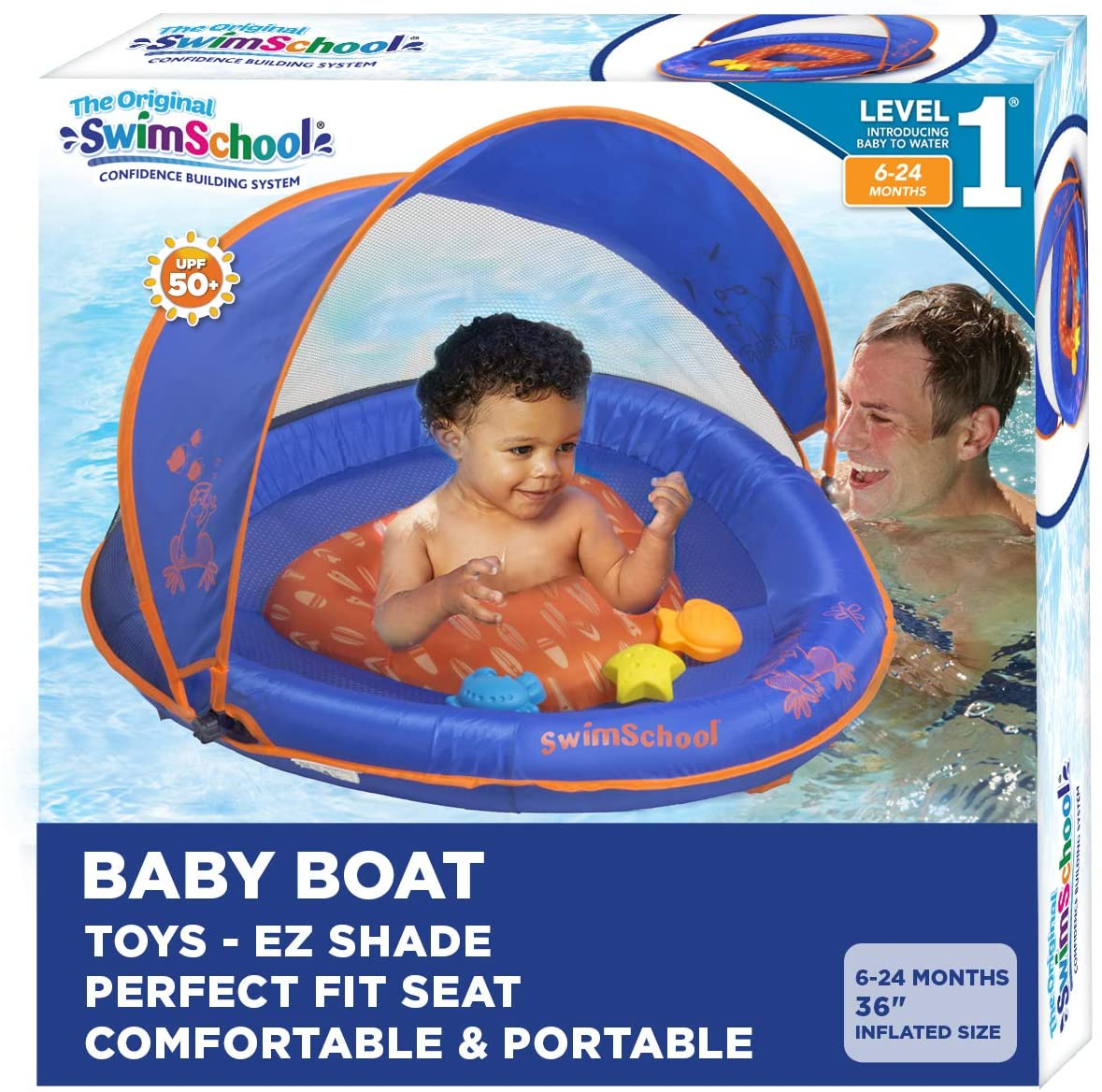 SwimSchool Infant Same day shipping Baby Pool Float Regular store To Splash Activity Play with
