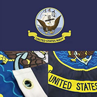 us navy wooden flag