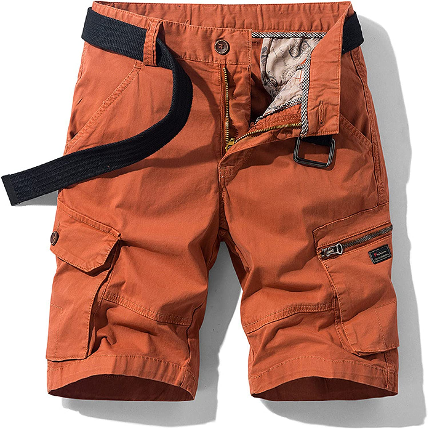 Men's Quick Dry Cargo Shorts Summer Fashion Simple Loose Outdoor Hiking Camping