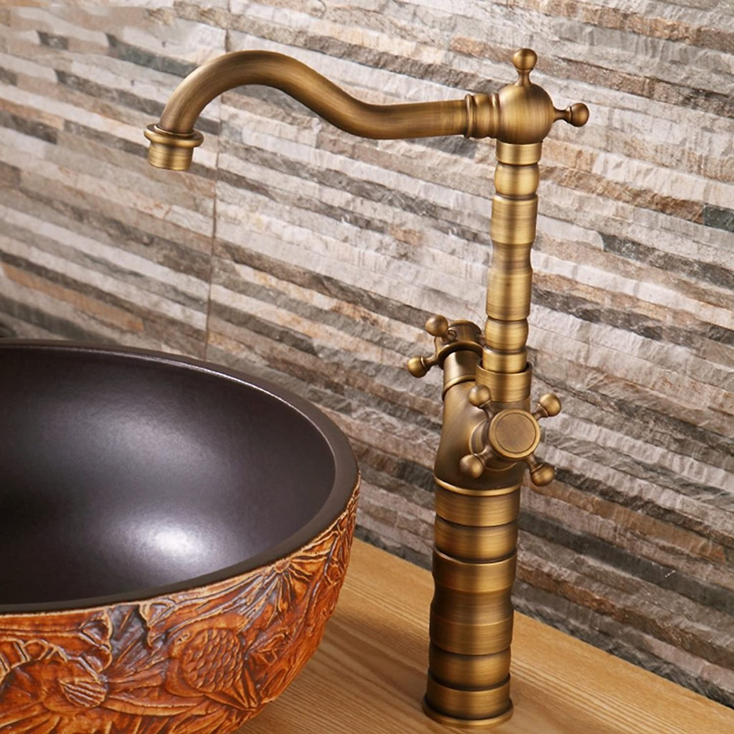 Bathroom Basin Taps Vintage faucet faucet faucet bathroom faucet full copper basin faucet hot and cold water bathroom basin faucet waterfall faucet full copper hot and cold water basin faucet antique double the platform basin artistic basin wash basin bas