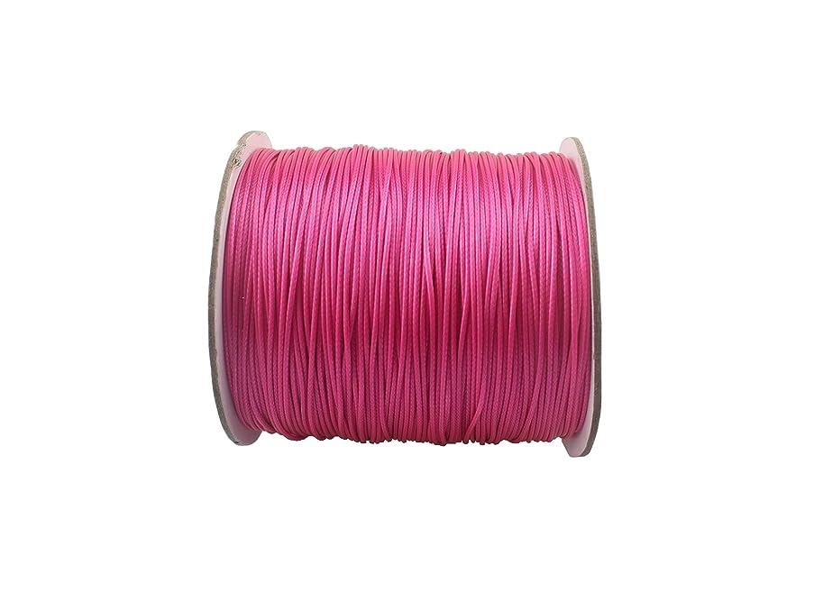 QIANHAILIZZ 150 Yards 0.5 mm Waxed Jewelry Making Cord Waxed Beading String Craft DIY Thread LXX120601805 (Fuchsia)
