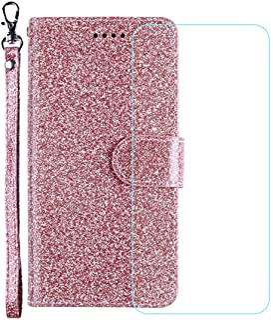 YZKJ Skydd för ZTE Axon 10 Pro 5G fodral, flip PU glitter läderfodral mobiltelefonfodral plånbok väska skyddsfodral fodral...