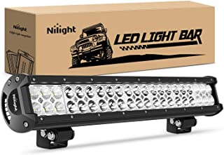 Nilight - Barra de luces LED de 20 pulgadas y 126 W con foco