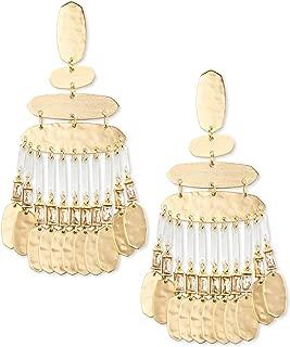 Kendra Scott Nicola Gold Statement Earrings in Smoky Crystal