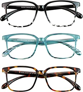 Sponsored Ad - 3 Pack Blue Light Blocking Glasses for Women or Men, Anti Eyestrain Dry Eyes, Headaches and Blurry Vision, ...