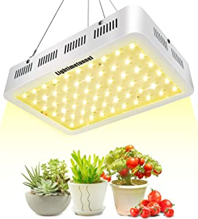 600W LED Grow Light, Lightimetunnel 3500K Full Spectrum Plant Light Bulbs for Hydroponic Greenhouse Indoor Plants Seeds Veg and Flower